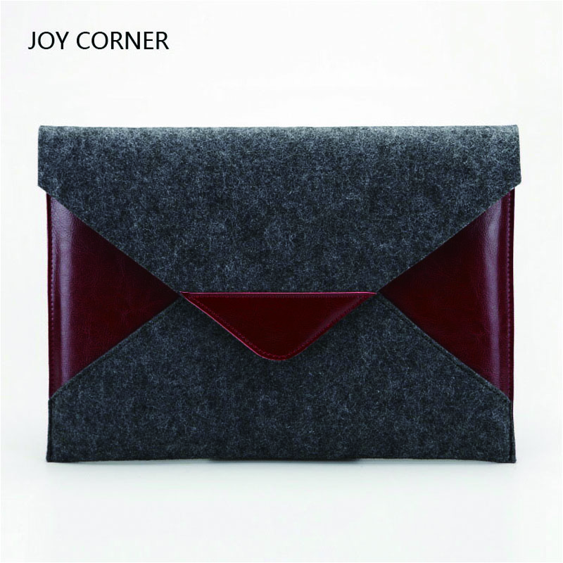 Chancery Document Bag Felt Cloth with Leather Decoration Folder For Papers Document Storage Office Supplies JOY CORNER STORE elastic closure folder hold a 4 documents files genuine cowhide leather first class manager document bag joy corner store 2018