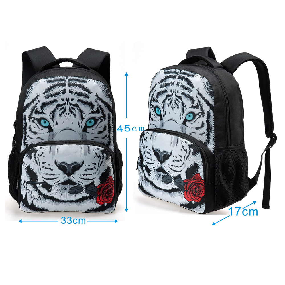 3D Printing Animals Women school bag Owl Head Laptop School Bagpack for Teenager Girls Lady Travel Rucksack