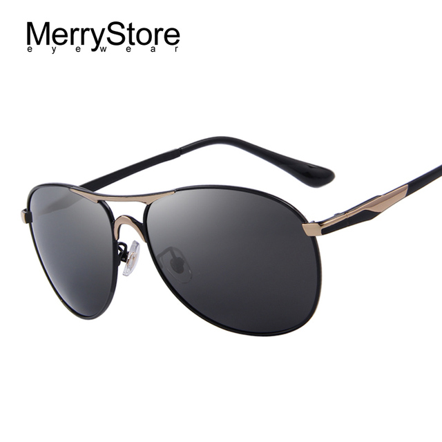 Merrystore hombres primera marca Polarized gafas Sol azul espejo De  conducción gafas De Sol gafas De d83baa9c6f31