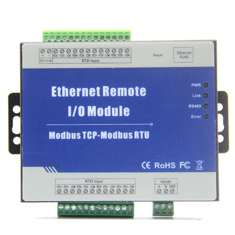 Modbus TCP per Ethernet Remote I/O Module con 8 ingressi RTD Supporta PT100/PT1000 Sensore di Resistenza M340TModbus TCP per Ethernet Remote I/O Module con 8 ingressi RTD Supporta PT100/PT1000 Sensore di Resistenza M340T