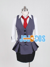 full set Tokyo Ghoul Kirishima Touka working uniform Cosplay Costume Anime Japanese halloween 4 in 1 coat+blouse+skirt+ bow tie