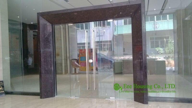 Personalizado puerta de cristal sin marco con 12mm templado vidrio ...