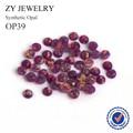 2.0mm ~ 10mm Cabujón Redondo de Fondo Plano Loose OP39 Púrpura Con Cuentas de Ópalo de Fuego En La Joyería