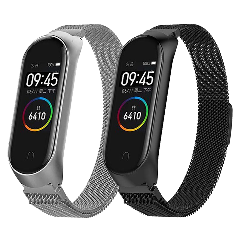 Wrist-Strap Milanese-Loop Xiaomi 4-Accessories bracelet Stainless-Steel for Mi-Band Metal xiaomi mi band 4