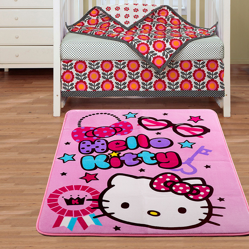 95*140CM Hello Kitty Carpet Mats HELLO KITTY Bedroom Carpet Door Mats Rug  Child Room Carpet Home Living Room In Mat From Home U0026 Garden On  Aliexpress.com ...
