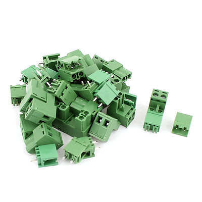 20 Pair 2 Pins 5.08mm Pitch Male Plug Female Socket PCB Screw Terminal Block hot factory direct wholesale idc40 male plug 40pin port header terminal breakout pcb board block 2 row screw