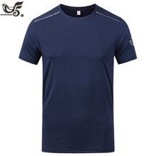 new t shirt men Quick drying Sweat Breathable gym joggers running man