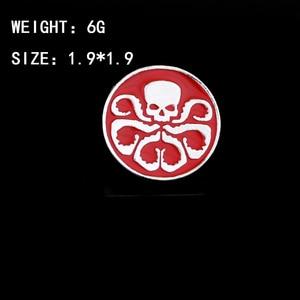 Агенты Shield S.H.I.E.L.D. Hail Hydra Брошь Красный Череп металлическая эмаль броши для женщин круглые Булавки модные аксессуары для косплея
