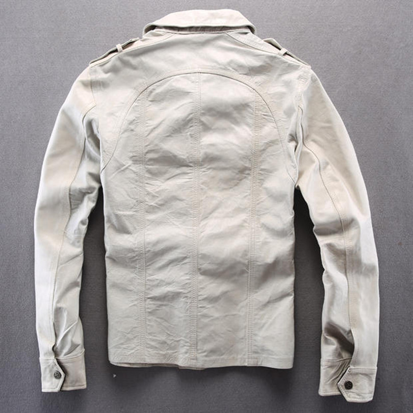 White leather shirts for men the image for Mens white leather shirt