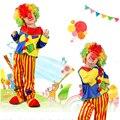 Trajes de payaso Barato Niños niños Traje Top + Pant Rendimiento Payaso Payaso del Carnaval de Halloween Trajes Delgados Ropa de Vestuario