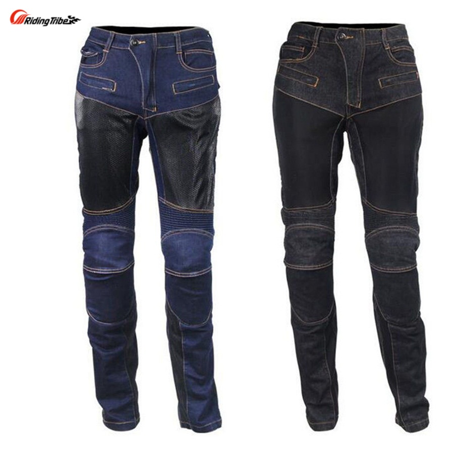 Free shipping 1pcs Cool Cycling Motorcycle Pants Women Men's Motorbike New Motorcycle Denim Trousers