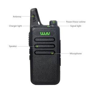 Image 3 - ANYSECU Walkie Talkie WLN KD C1 Mini Radyo UHF 400 470 MHz 5 W 16 Kanal MINI el telsizi Üç renk Isteğe Bağlı