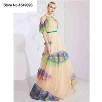Оригинальный Zipipiyf элегантный красочный Макси бальное платье для женщин Вечеринка летнее 2019 пикантные блестящие Saia Festa Longo Ab268