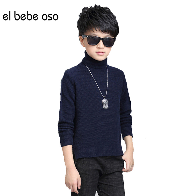 el bebe oso New Wnter Boys Clothing Boys Sweater Kids Fashion Turtleneck Sweater Children's Pullovers Outwear Sweater XL643