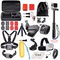 Aluminum Monopod Selfie Accessories Set Kit for Gopro hero 5 SJCAM SJ4000 Action Camera Chest head Hand Mount Bag for SJCAM 40
