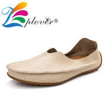 Breathable Men Casual Shoes Summer Style Holes Leather Shoes Men Loafers Classics Light Moccasins Men Oxfords Driving Shoes