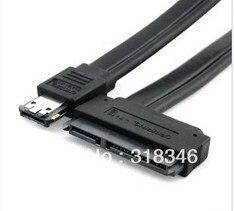 Power eSATA(esata+usb) 12V+5V to SATA 22pin cable,0.5m length eSATA to SATA with tracking number 2 5 3 5 ide sata hdd to esata