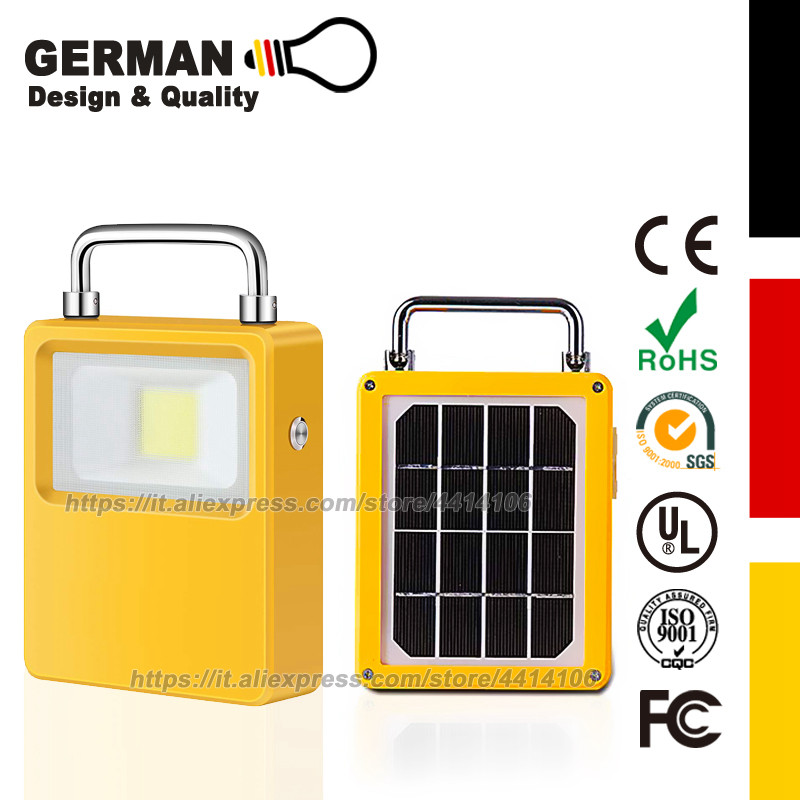 Solar Powered LED Work Lights,10W 20W 30W 50W Outdoor portable spotlights USB LED Camping Lights With Back Up Power Bank