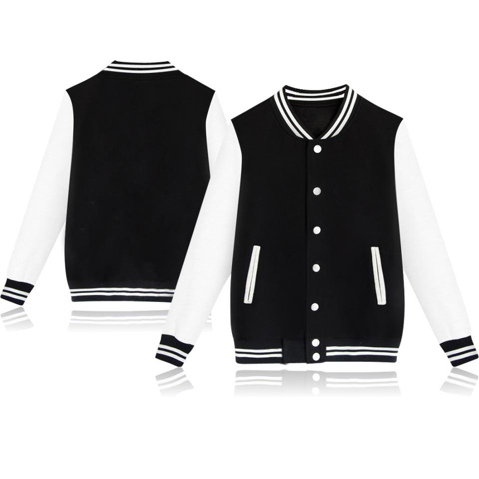 XXS-4XL 2018 Men Winter Autumn Blank Pattern baseball jacket Men women hoodie Jacket autumn Jackets Coat boys girls plus size