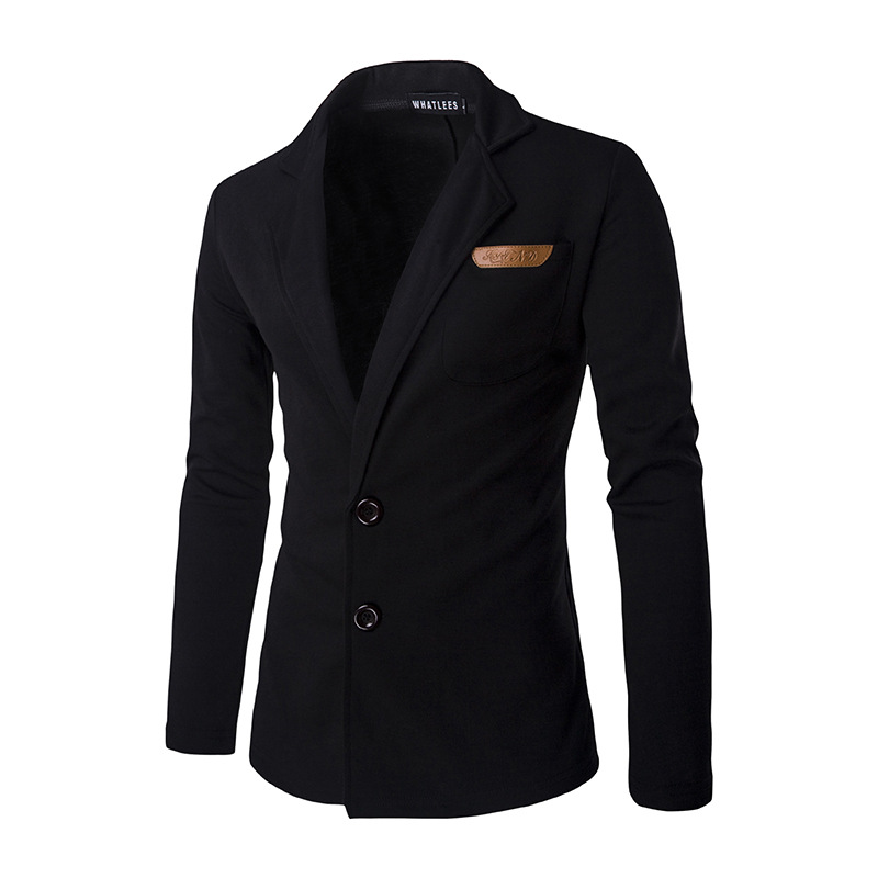 New men s winter decoration personality leather standard single breasted suit jacket lapel slim