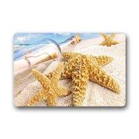שפשפת בקבוק כוכב ים ים פגז חול ים פנימי/חיצוני/קדמי Mat דלת ברוך הבא (23.6