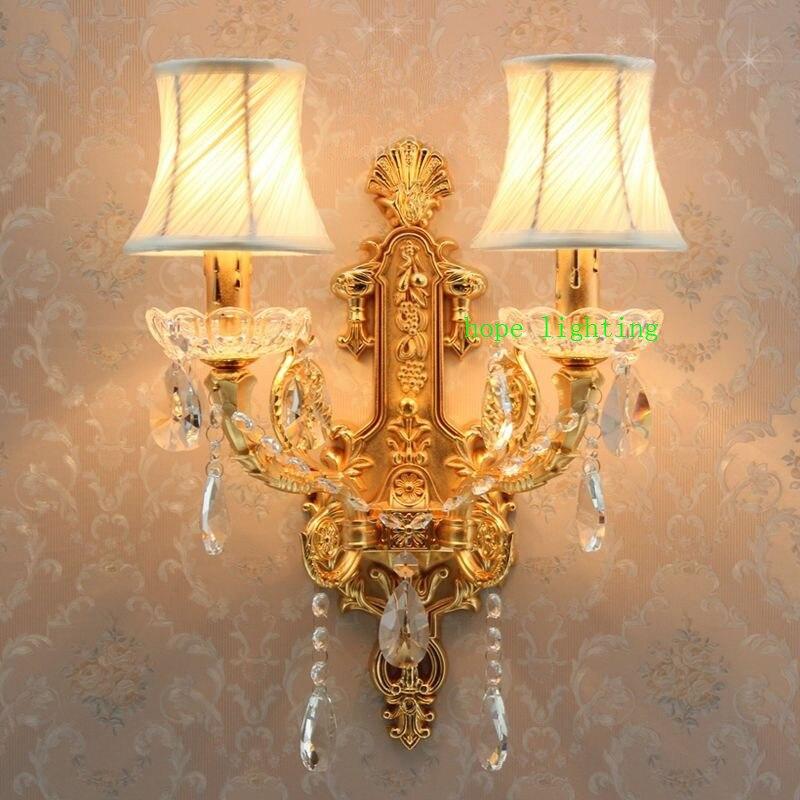 Hallway Wall Lights led Crystal Wall Lamp led Bedside Lamp Bedroom Crystal Wall Sconce Gold Modern Crystal Wall Sconces Lighting