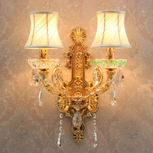 Hallway Wall Lights led Crystal Lamp Bedside Bedroom Sconce Gold Modern Sconces Lighting