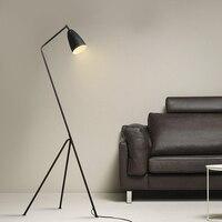 Design Lighting industry wind office LED floor lights study personality simple bedroom living room black floor lamps