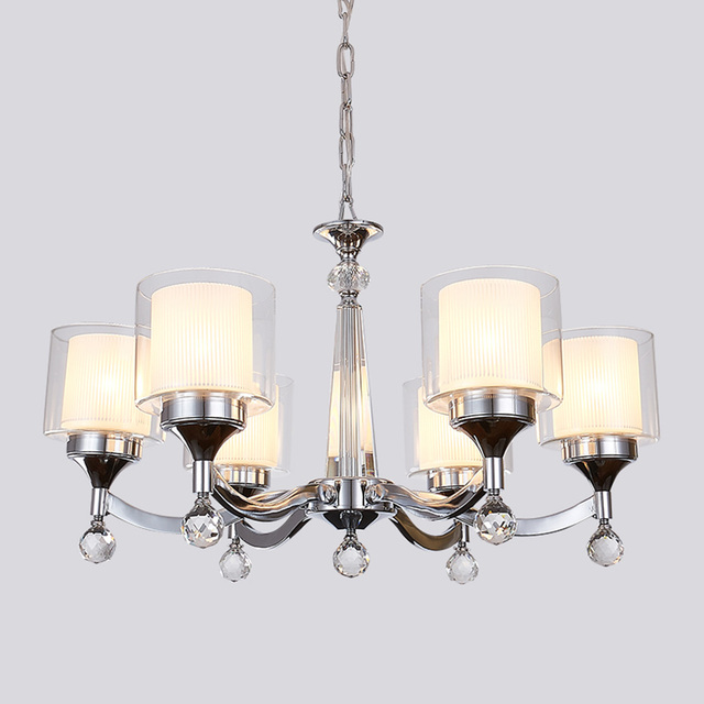 LED Modern Blown Glass Chandeliers Sale Living Room 110 220v Dining Luminaria