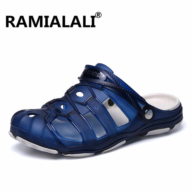 e900c370a2075 ... Ramialali Men Sandals Summer Hollow Out Breathable Beach Slippers 2019 Casual  Outdoor Slippers Water Shoes Zapatillas ...