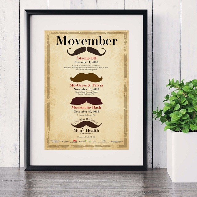 Merveilleux Mustache Minimalist Quote Canvas Art Print Painting Poster Wall Pictures  For Living Room Home Decoration Wall