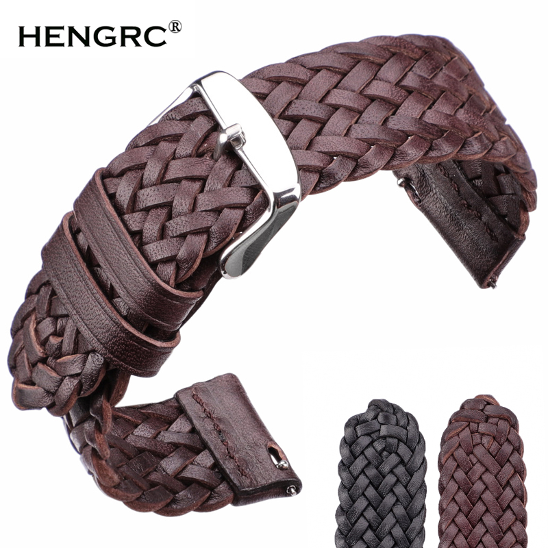 Cowhide Watchband 22mm 24mm Women Men Fashion Weave Genuine <font><b>Leather</b></font> Watch Band Strap For <font><b>Samsung</b></font> Galaxy <font><b>46mm</b></font> Gear S3 image