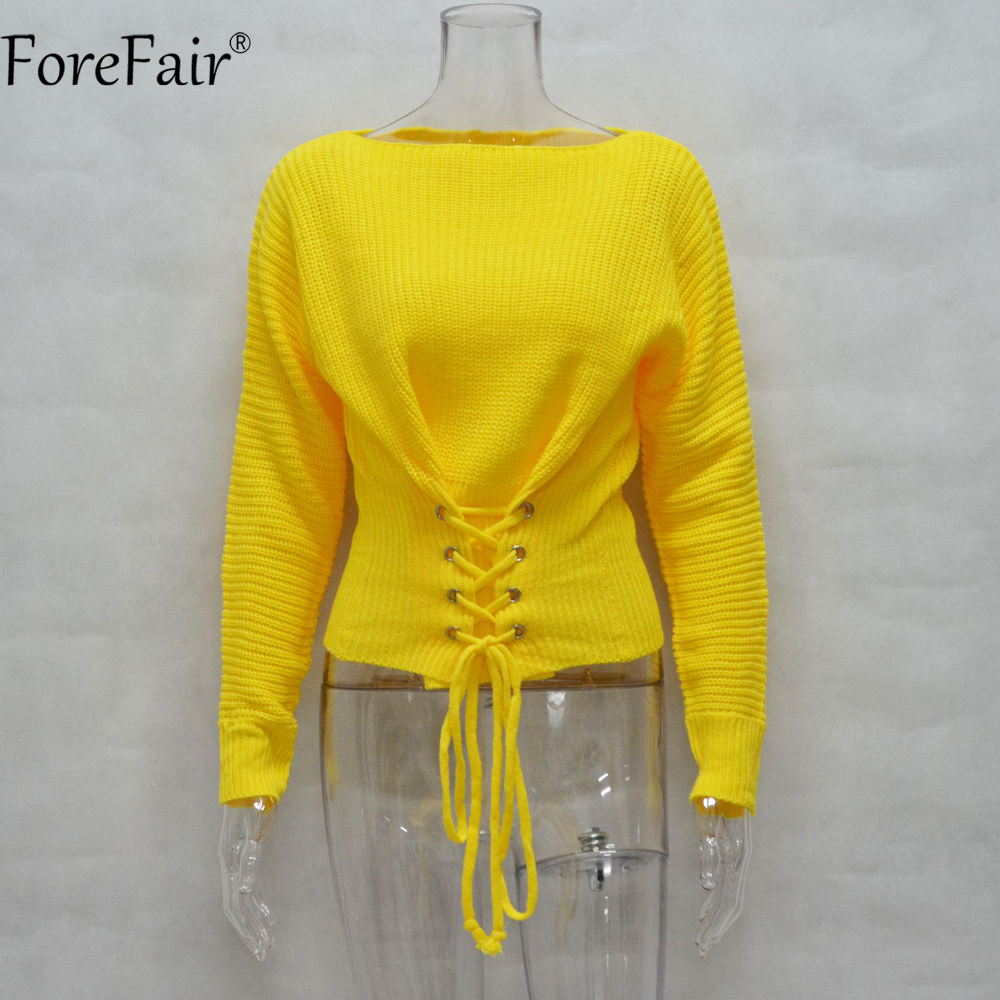 Aliexpress.com : Buy ForeFair Trendy Lace Up Tunic Sweater ...