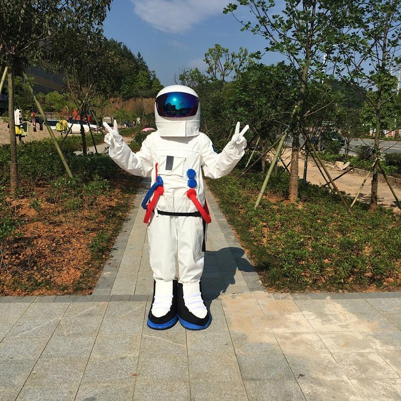 Dello Spazio di alta Qualità vestito del costume della mascotte Astronauta costume della mascotte di Halloween Di Natale del partito del vestito