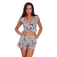 crop top and pants set short pant two piece sets tees mujer floral stripes sexy short beach twinset top and pants sets colorful scales pattern blazer and pants twinset