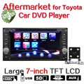 "7"" TFT LCD Touch Screen Car DVD Player For Toyota Landcruiser Prado Stereo MP3 Radio with Intelligent Reversing Camera Funcation"