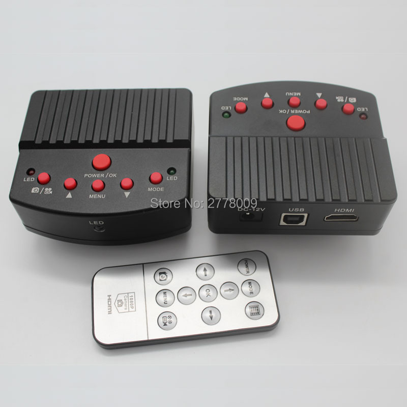 Full HD 16MP 1080 P 60FPS HDMI USB industriel Microscope numérique caméra SD carte Photo enregistrement vidéo prise en charge C CS lentille