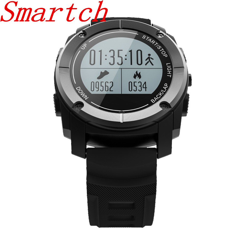 Smartch S928 GPS Outdoor Sports Smart Watch Men Wristband Waterproof Heart Rate Monitor Altitude Meter for Android IOS vs gt08 d smart baby watch q60s детские часы с gps голубые