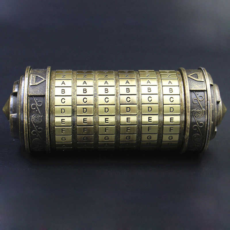 Davinci Code Cryptex Locker Puzzle Box Free With LOTR ...