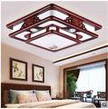 Прямоугольный потолочный светильник в китайском стиле для гостиной  спальни  твердой древесины  антикварная лампа для Кабинета