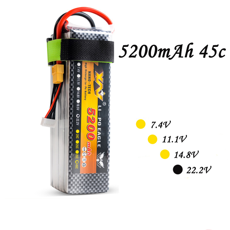 High Quality RC UAV Drone Battery 22.2V 5200mAh 35C 6S 11.1olt RC LiPo Li-Poly Battery for Helicopters Quadcopter RC drone kit 2pcs high quality 4s full 5400mah 14 8v 79 92wh replacement lipo battery for yuneec typhoon h drone rc quadcopter