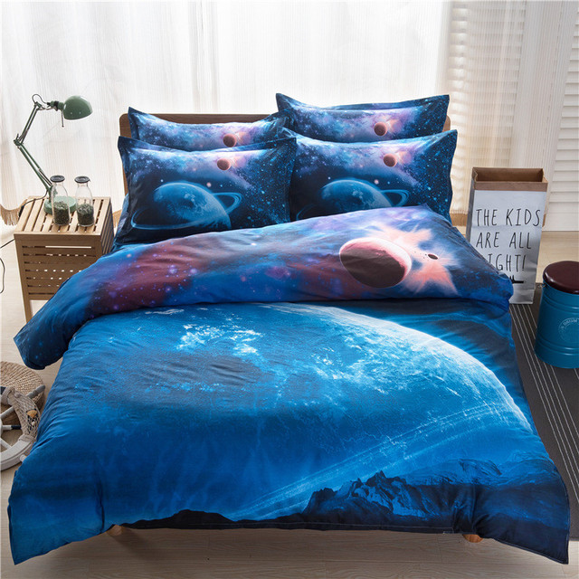 galaxy collection l ocean literie ensemble couette doona couverture drap de lit oreiller cas