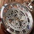 Горячая Распродажа  элегантные модные классические Серебристые механические часы с прозрачным каркасом для девочек  relogio de bolso
