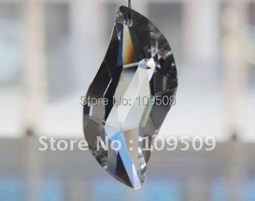 EMS, 50 мм Ясно S-форма люстра crystal Prism Suncatcher Фэн-Шуй Подвеска