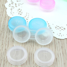 Color Random Unisex Men Women Cute Contact Lens Cases Box Container Soak Storage Eyewear Holder Small Size  eye contacts