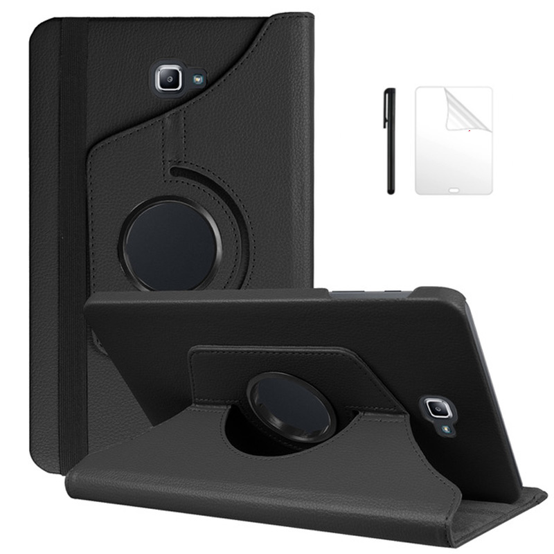 Tablet Case for Samsung Galaxy Tab A A6 <font><b>10.1</b></font> inch with S Pen SM-P580 P585 PU Leather <font><b>360</b></font> Degree Rotating Stand Cover+Pen+Film image