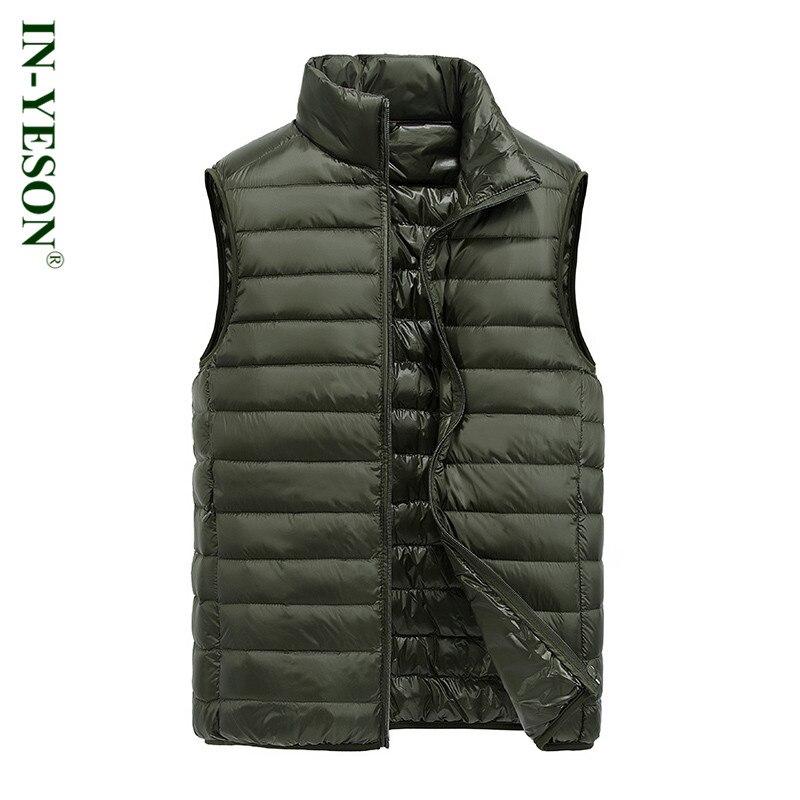 2017 Neue In-yeson Marke Männer Ultralight Ente Daunenweste Hochwertige Männer Licht Daunenmantel Sleeveless Jacke Einfache Design