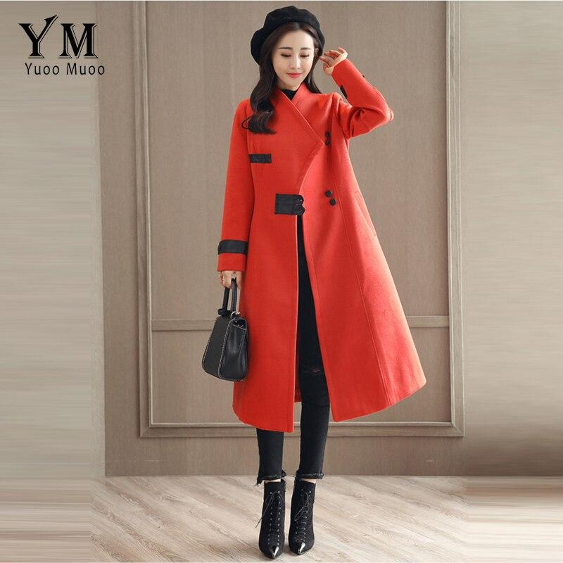 De orange Solides Longues Designer Laine Beige Poitrine rouge down Turn Femmes Travail Casaco noir Col Manches Yuoomuoo Unique Manteaux Veste Outwear XwHqx166p