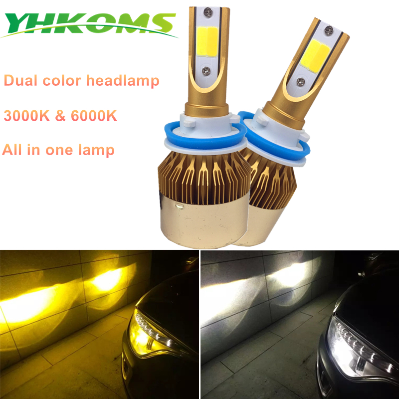 YHKOMS H7 H4 LED žarulje H1 H3 H8 H11 HB3 HB4 LED prednja svjetla - Svjetla automobila - Foto 3