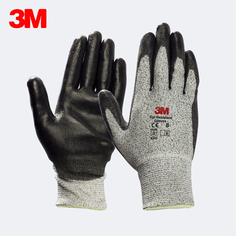 3M Comfort Grip Cut Resistant Gloves Anti cut Level 3 Anti slip Tear resistance Safety Working Gloves Wear resistant Protective